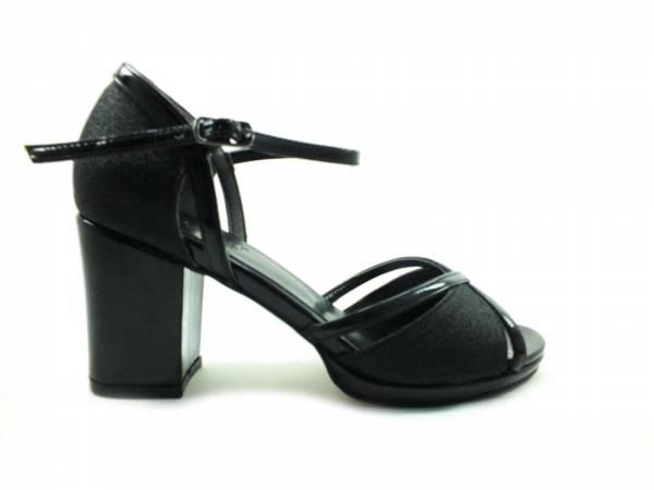 Topuklu Bayan Ayakkabı - Siyah-Sıvama - 604
